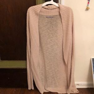 Long tan sweater from Urban Outfitters